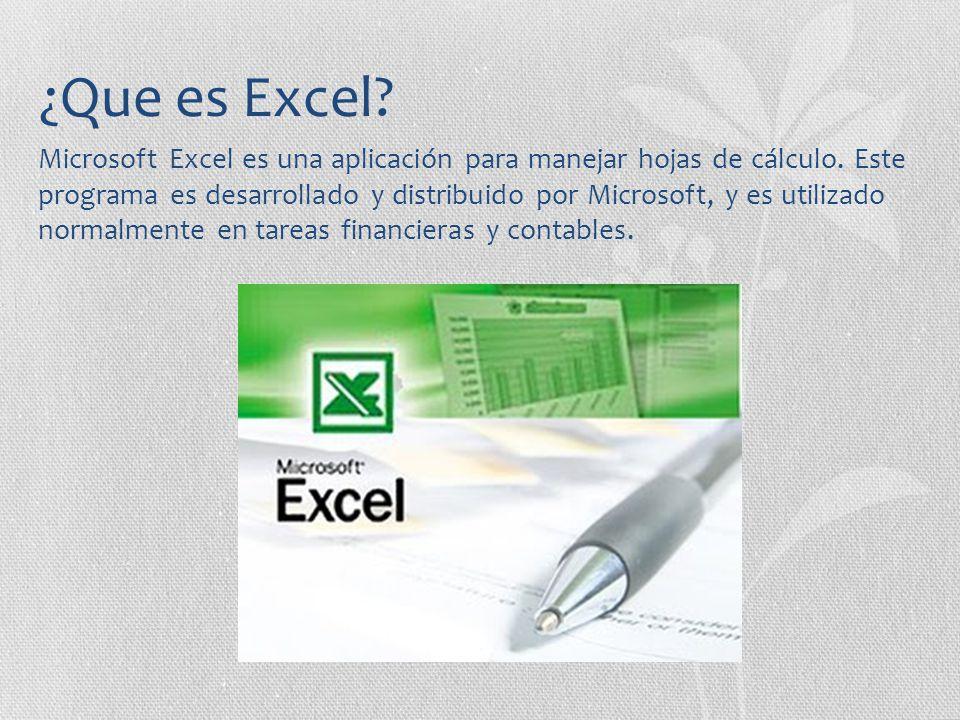 ¿Que es Excel