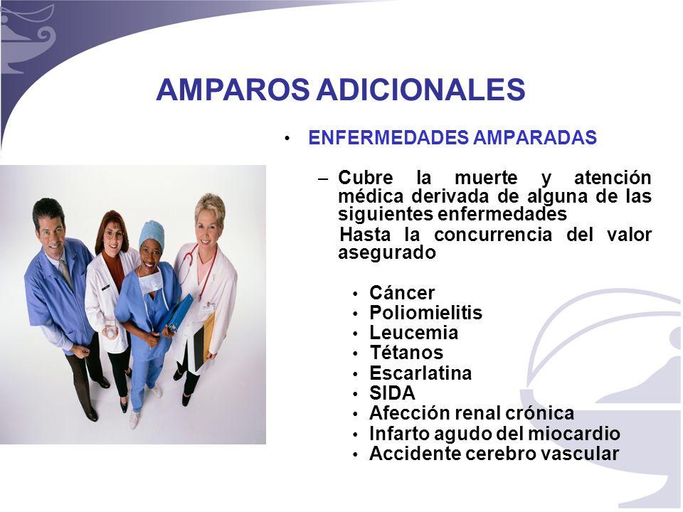 AMPAROS ADICIONALES ENFERMEDADES AMPARADAS