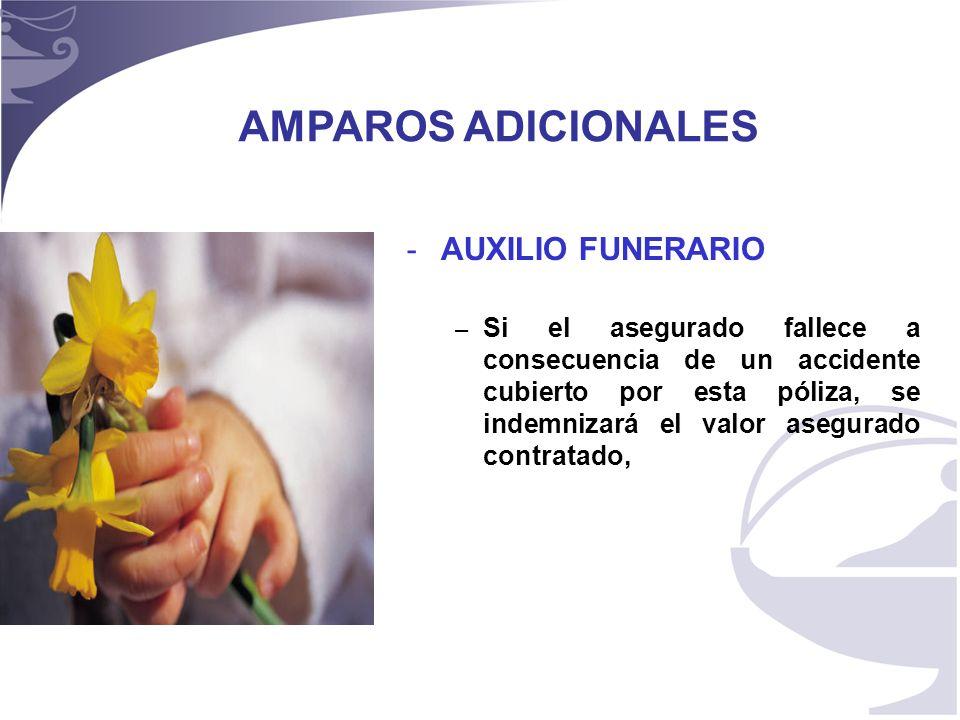 AMPAROS ADICIONALES AUXILIO FUNERARIO