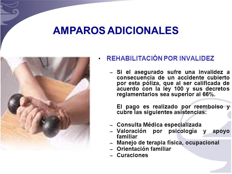AMPAROS ADICIONALES REHABILITACIÓN POR INVALIDEZ