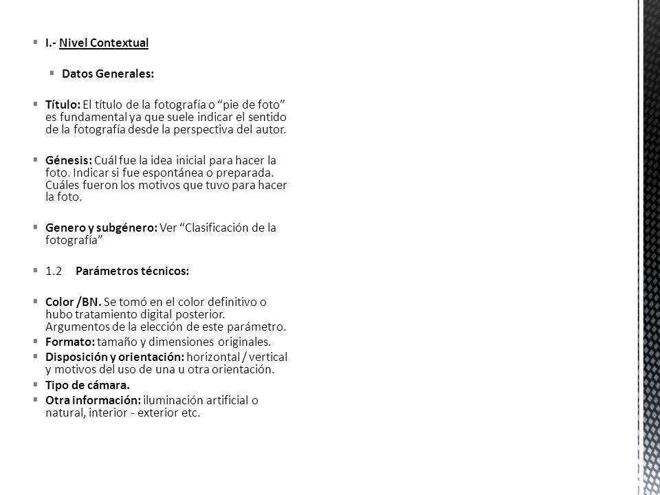 I.- Nivel ContextualDatos Generales: