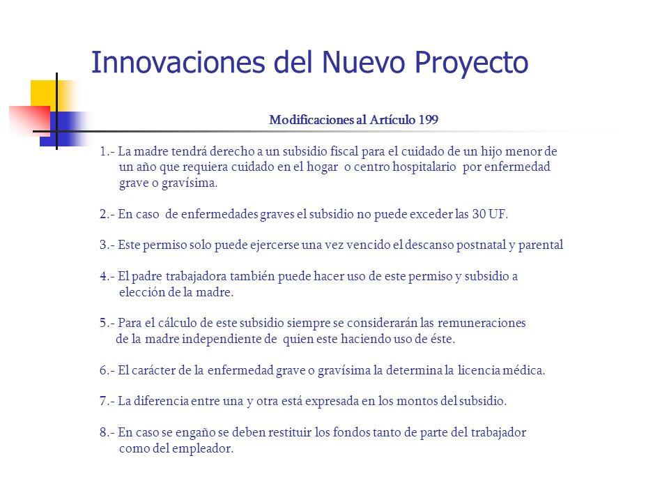 Innovaciones del Nuevo Proyecto