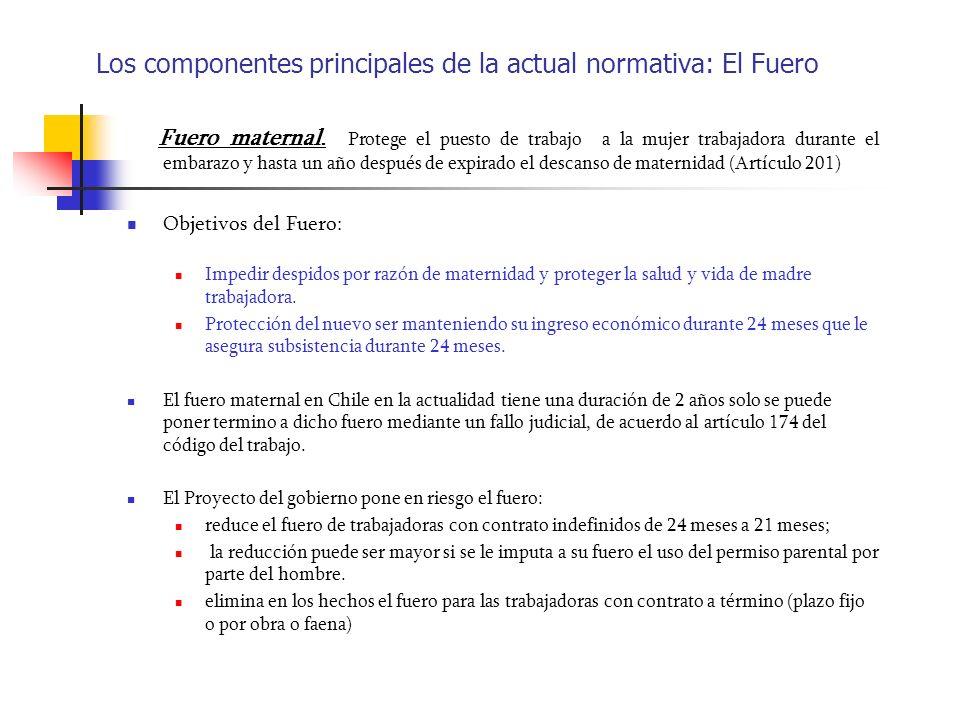 Los componentes principales de la actual normativa: El Fuero