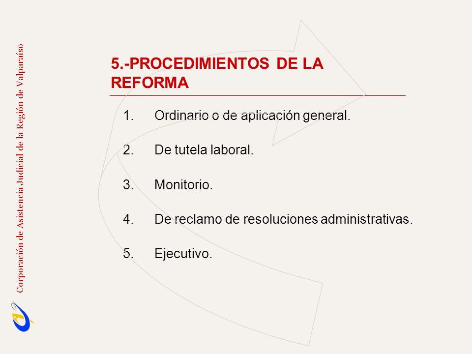 5.-PROCEDIMIENTOS DE LA REFORMA