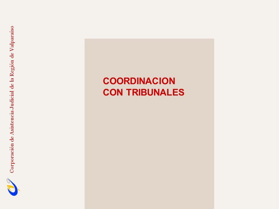COORDINACION CON TRIBUNALES
