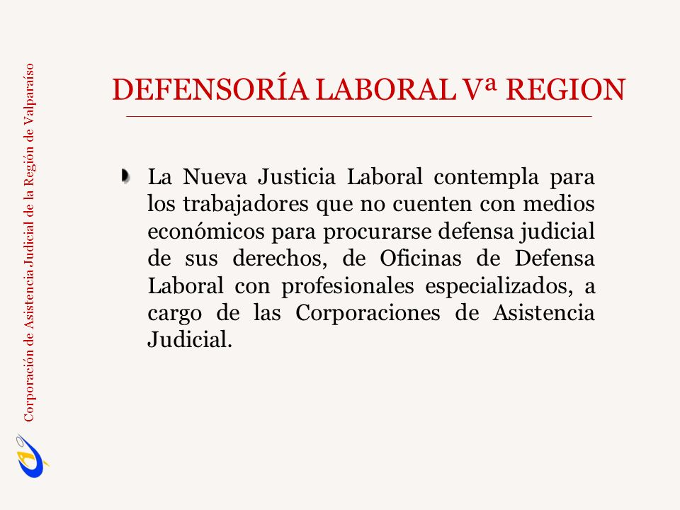 DEFENSORÍA LABORAL Vª REGION