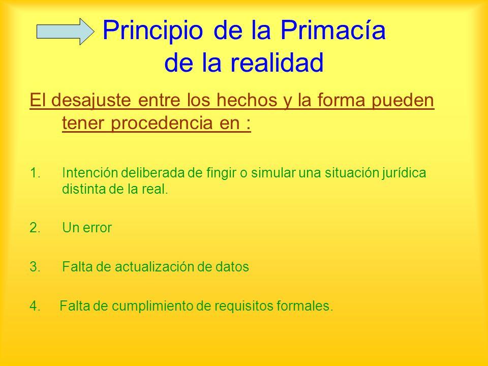 Principio de la Primacía de la realidad