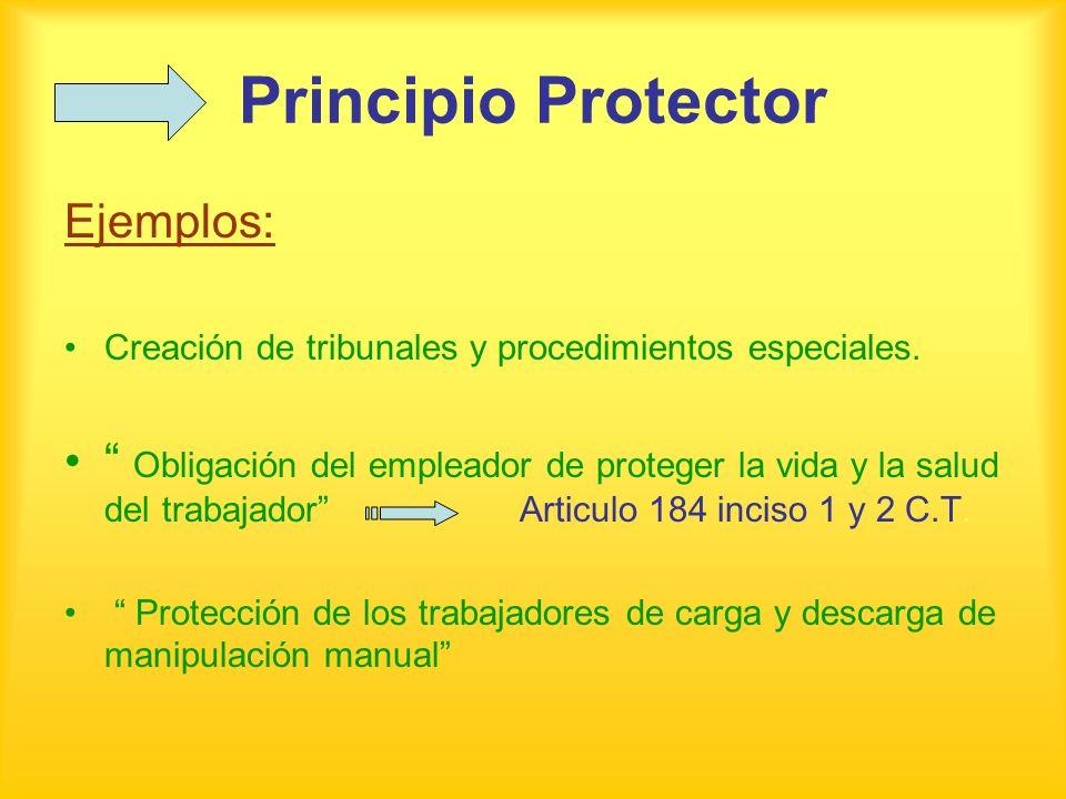 Principio Protector Ejemplos: