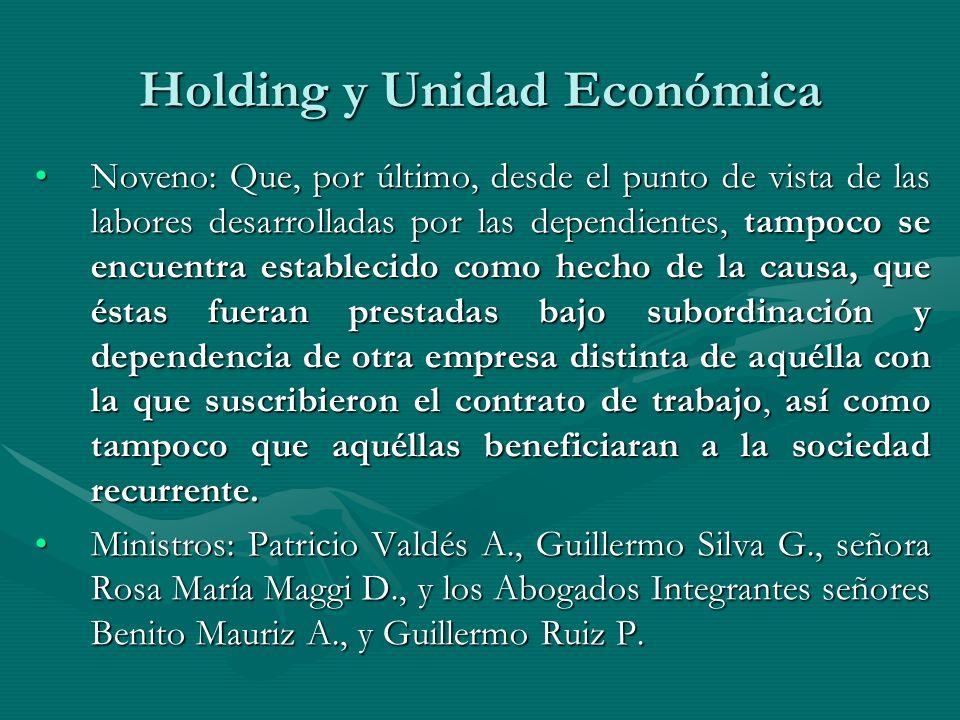 Holding y Unidad Económica