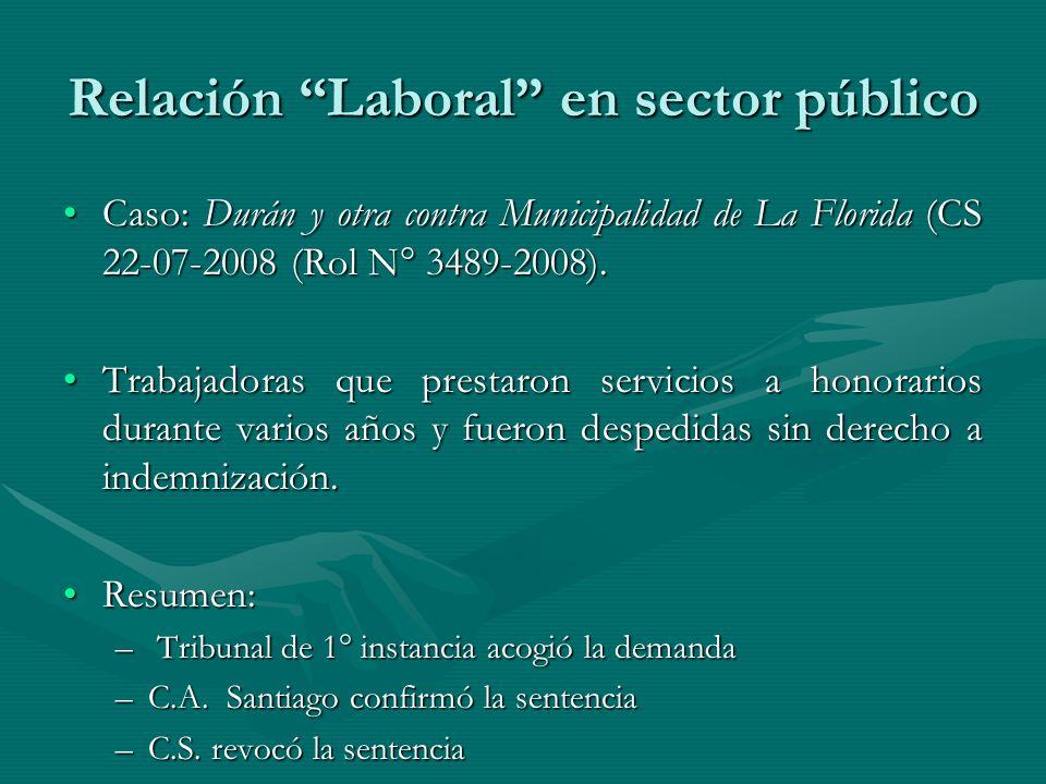 Relación Laboral en sector público