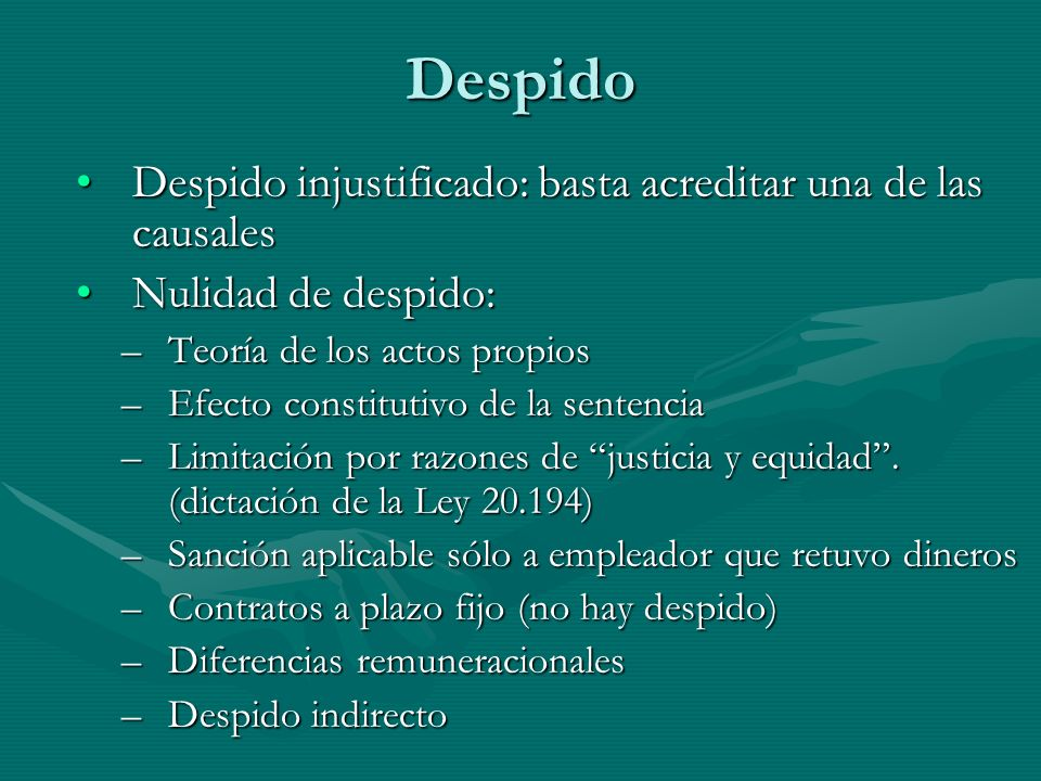Despido Despido injustificado: basta acreditar una de las causales