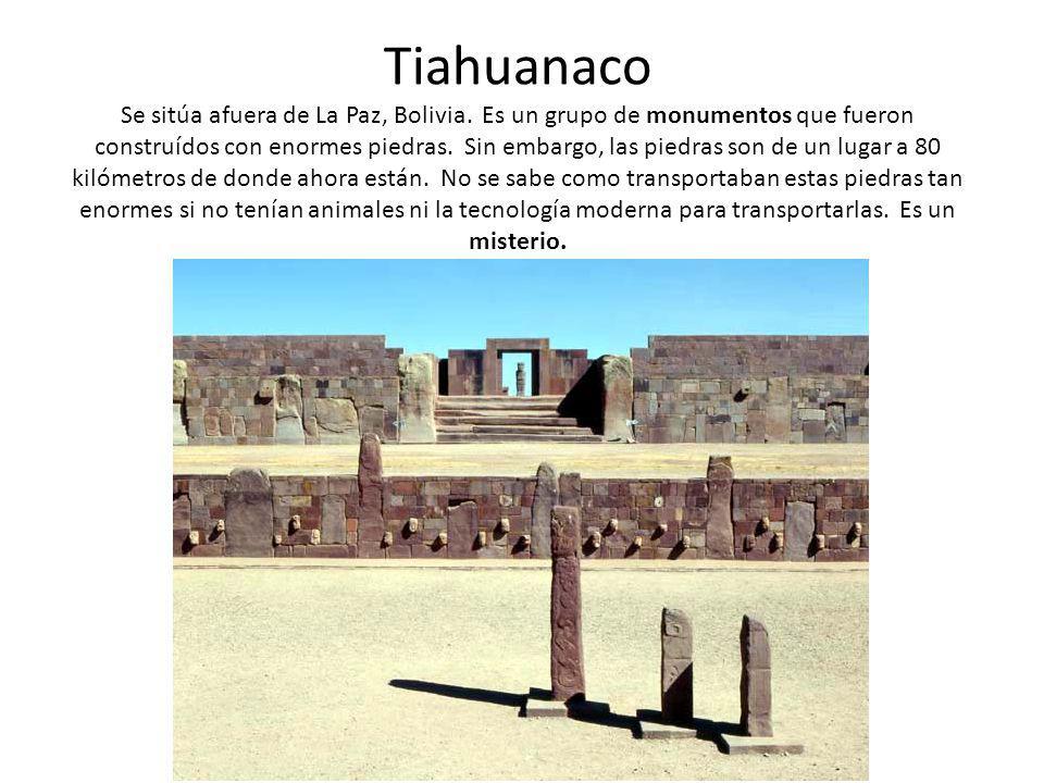 Tiahuanaco Se sitúa afuera de La Paz, Bolivia