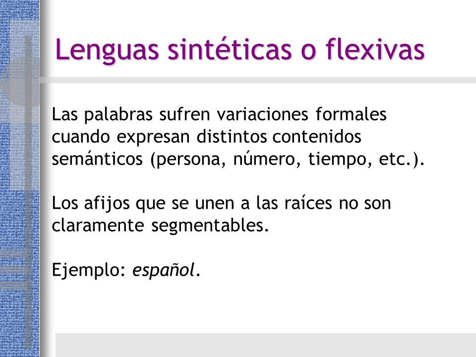 Lenguas sintéticas o flexivas