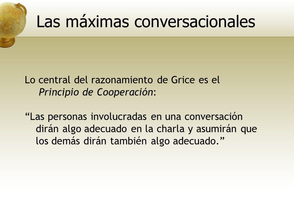Las máximas conversacionales