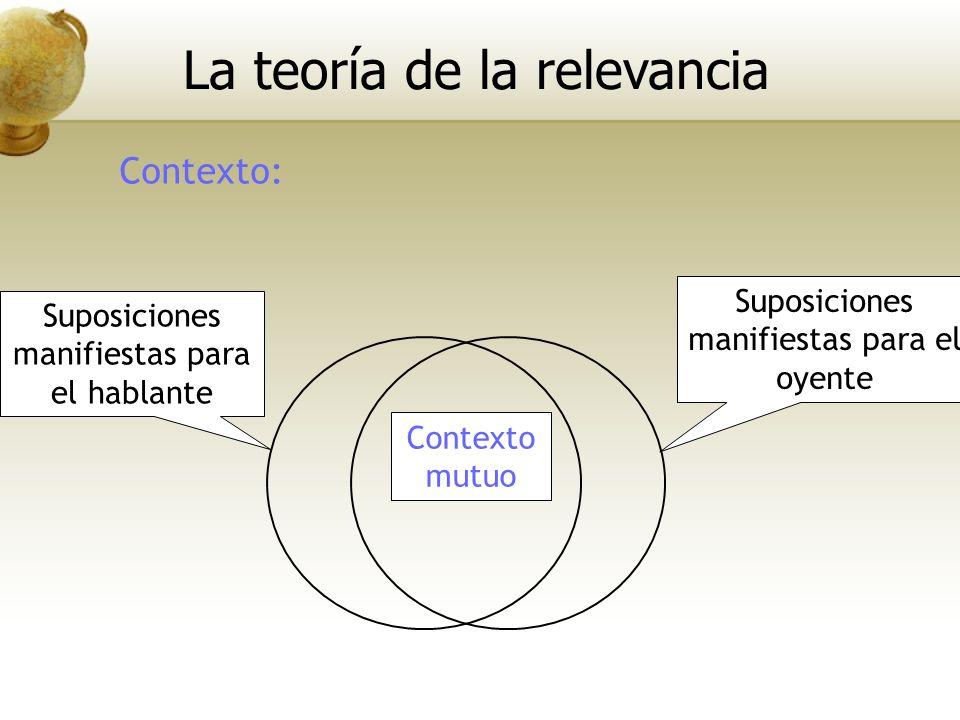 La teoría de la relevancia