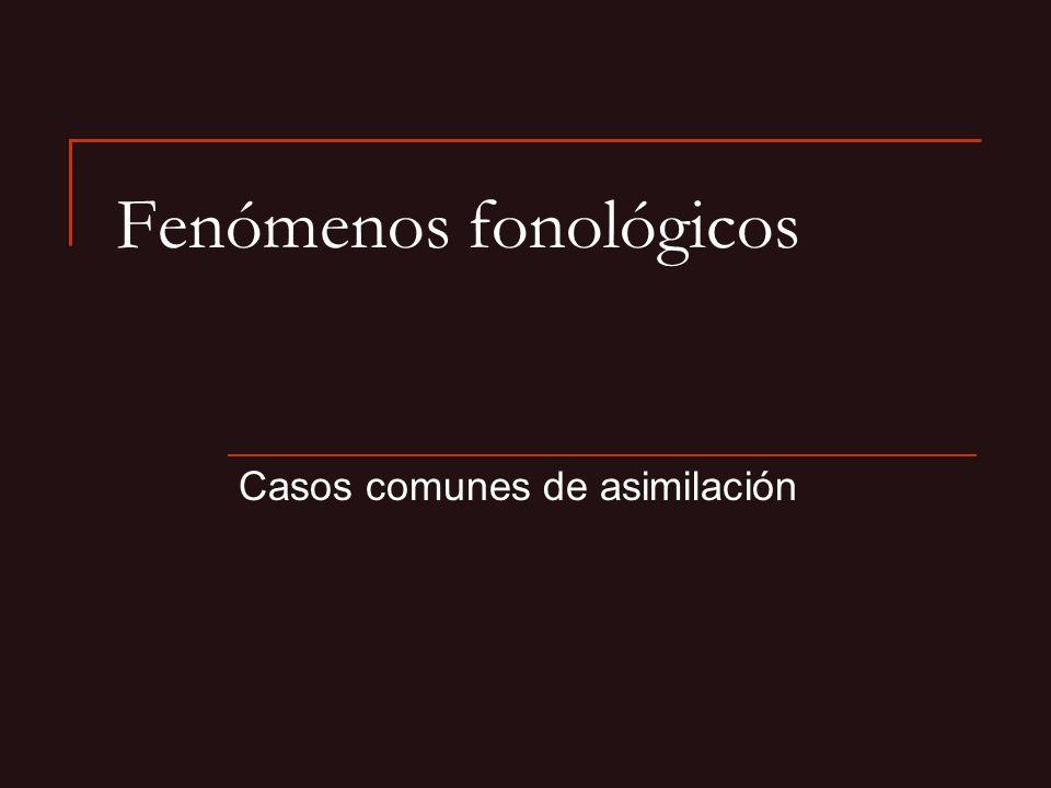 Fenómenos fonológicos