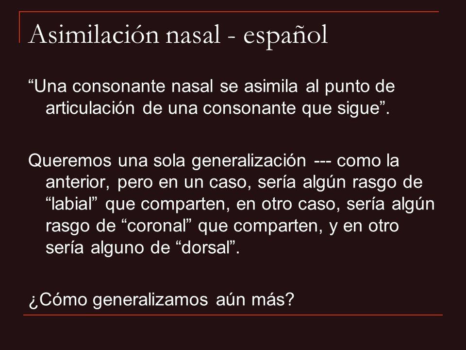 Asimilación nasal - español