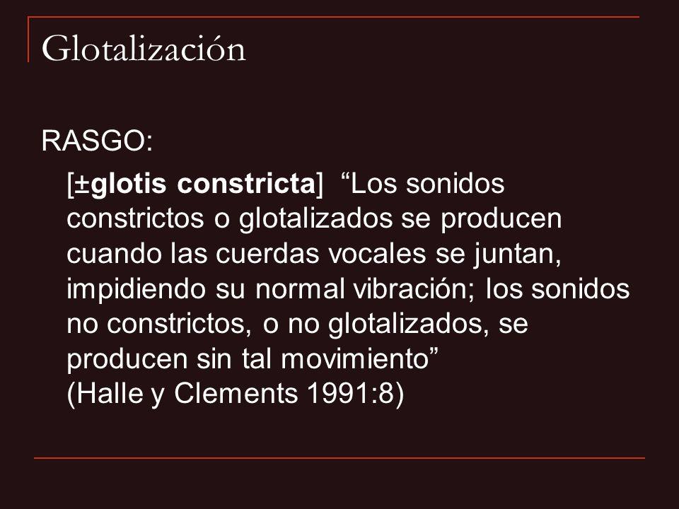 Glotalización RASGO: