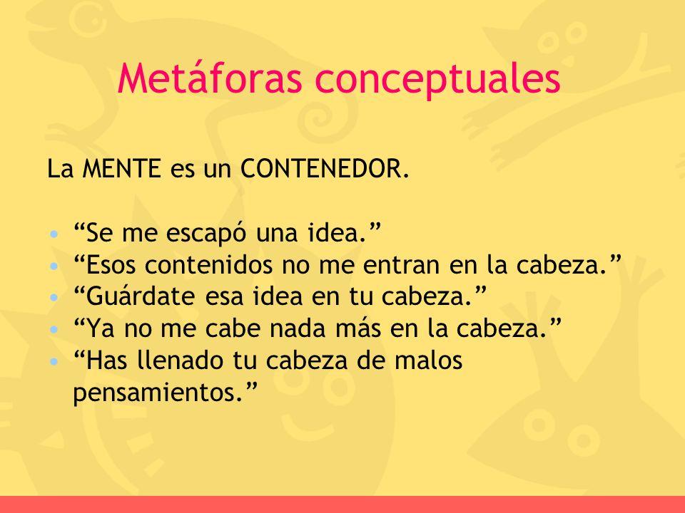 Metáforas conceptuales
