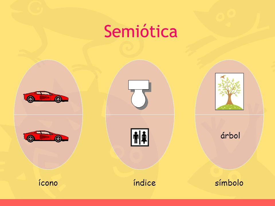 Semiótica árbol ícono índice símbolo