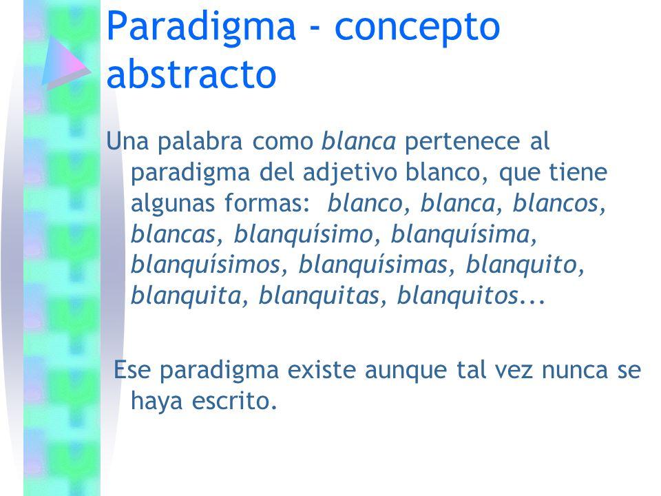 Paradigma - concepto abstracto