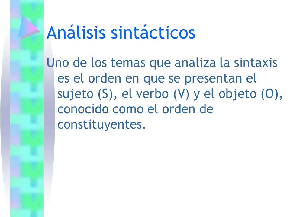 Análisis sintácticos
