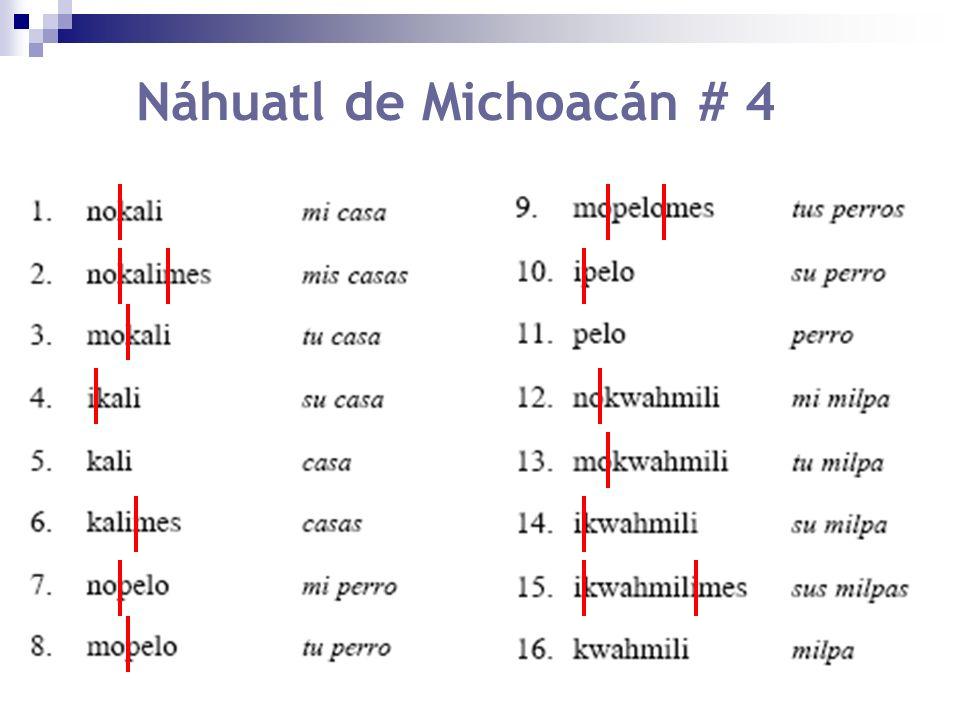 Náhuatl de Michoacán # 4
