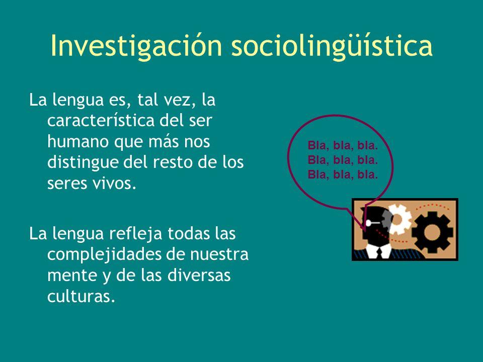 Investigación sociolingüística