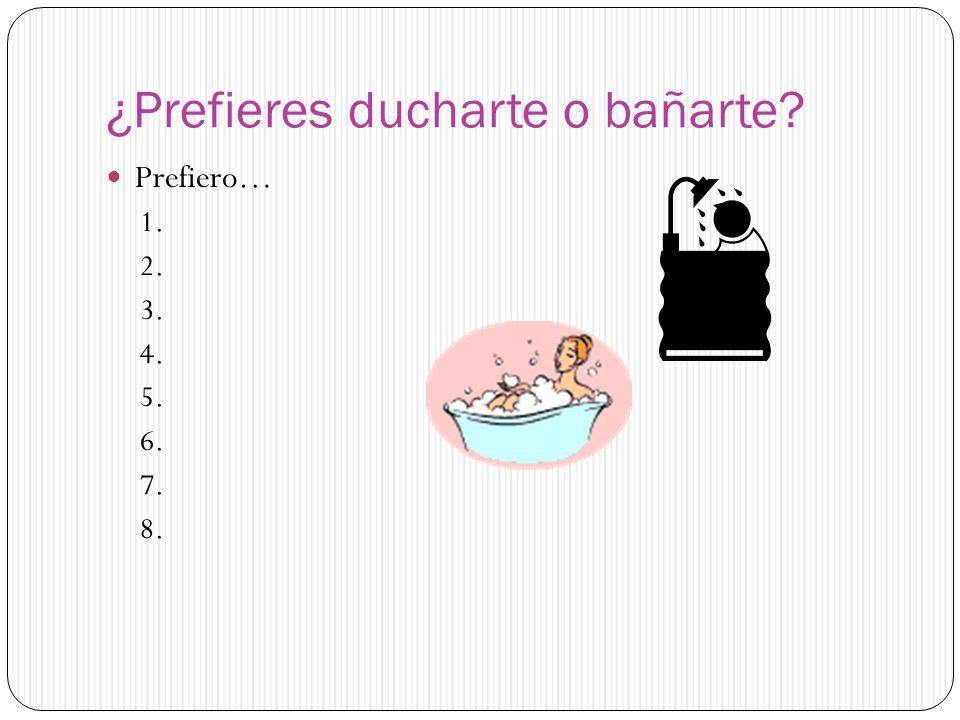 ¿Prefieres ducharte o bañarte