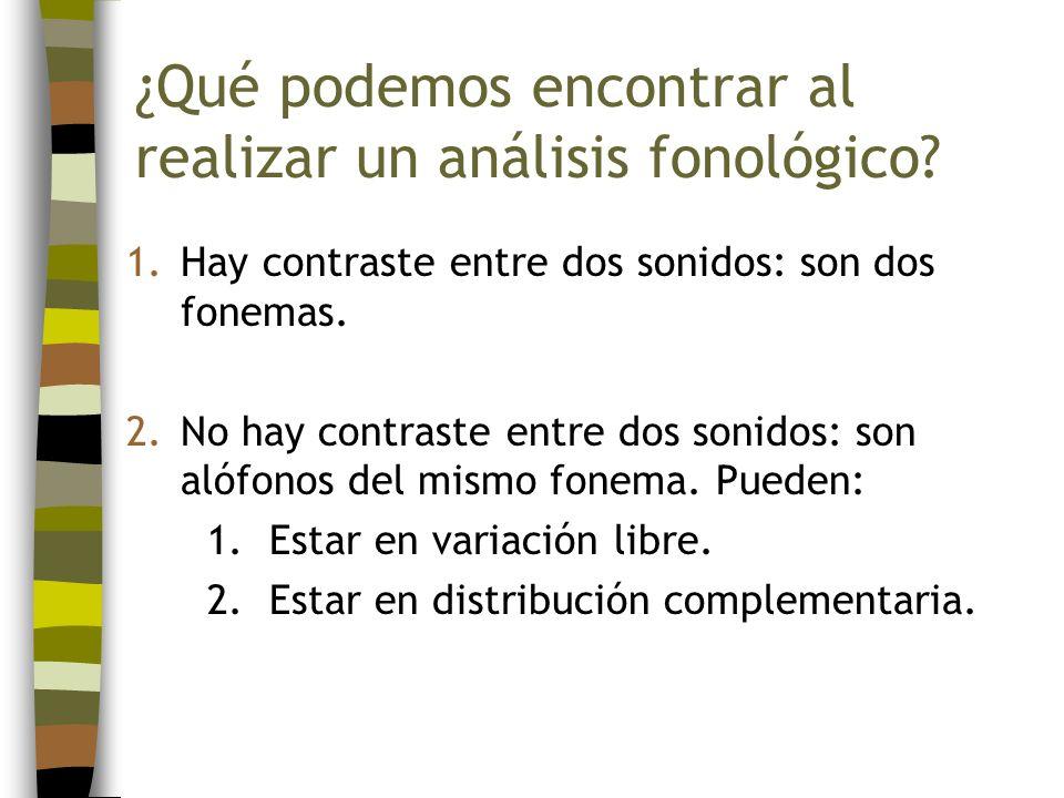 ¿Qué podemos encontrar al realizar un análisis fonológico