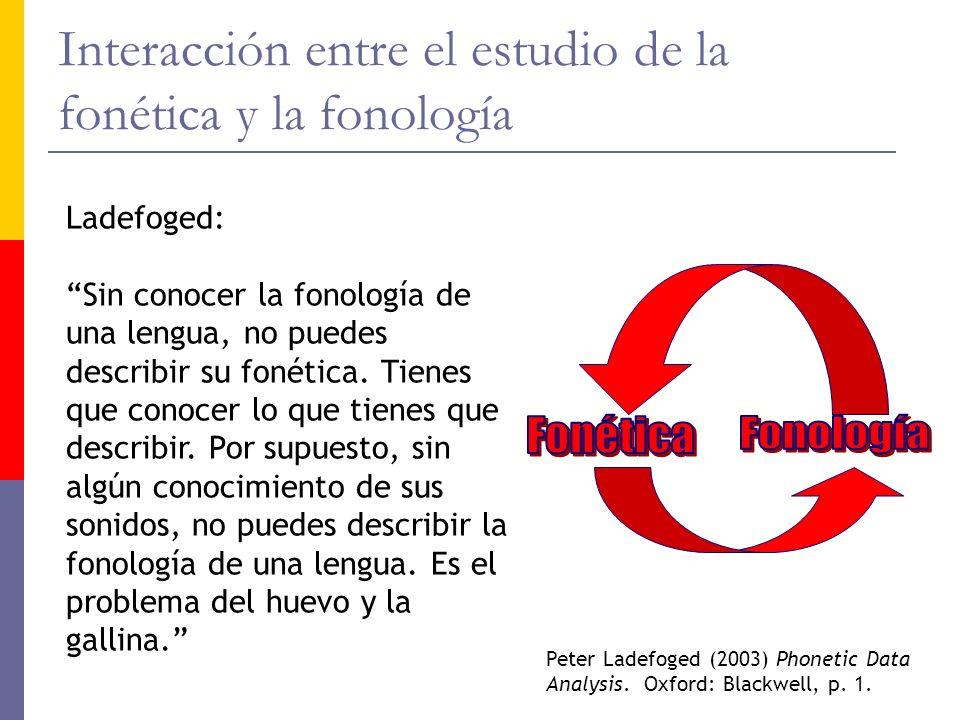 Interacción entre el estudio de la fonética y la fonología