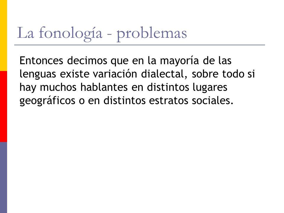 La fonología - problemas