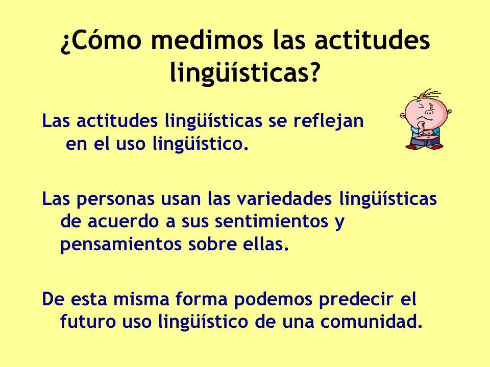 ¿Cómo medimos las actitudes lingüísticas