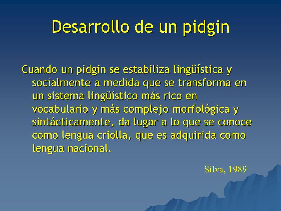 Desarrollo de un pidgin