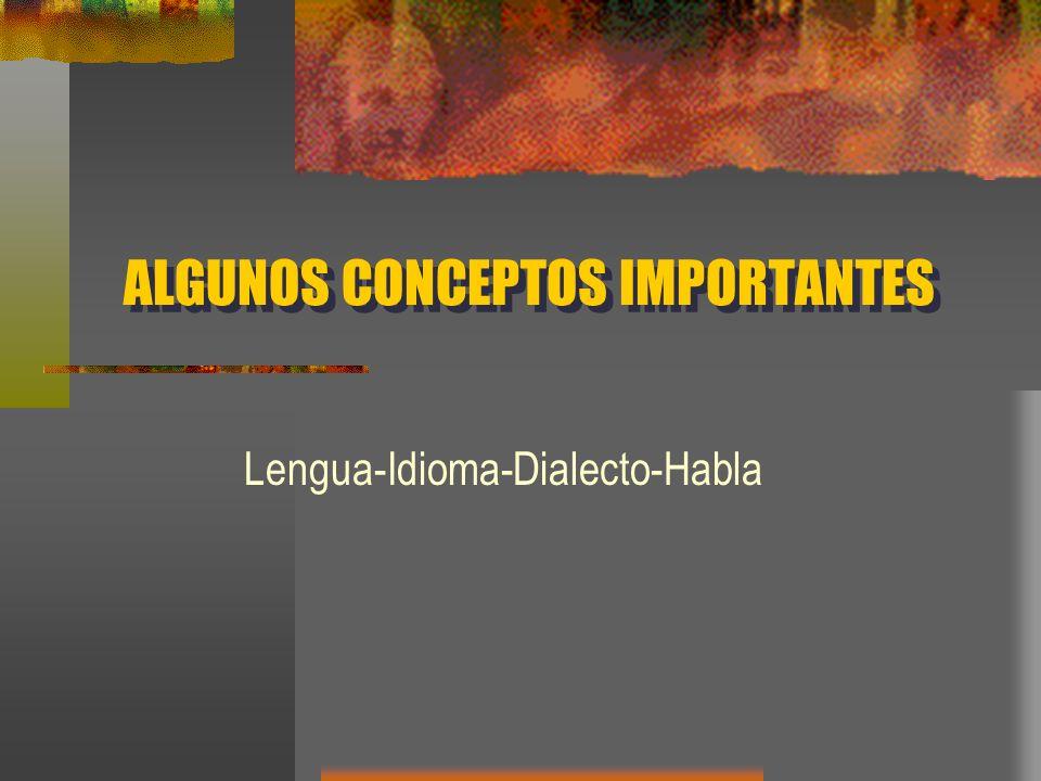 ALGUNOS CONCEPTOS IMPORTANTES