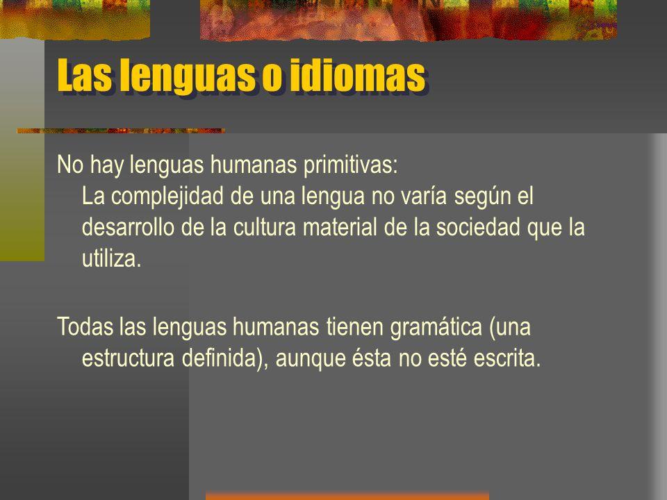 Las lenguas o idiomas