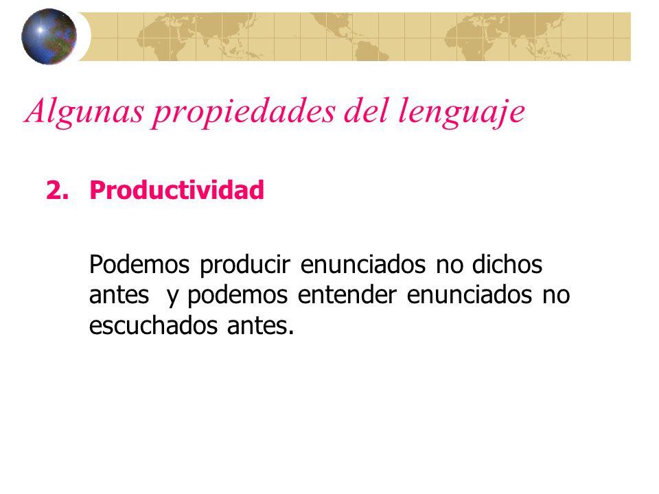 Algunas propiedades del lenguaje