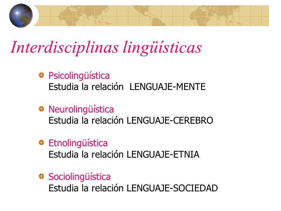 Interdisciplinas lingüísticas