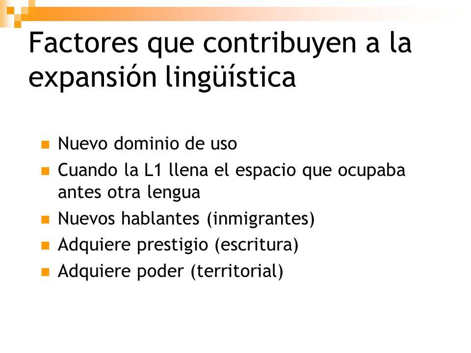 Factores que contribuyen a la expansión lingüística