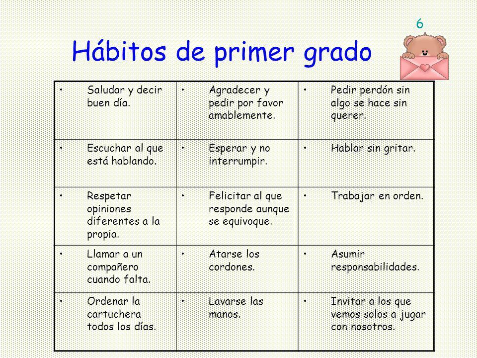 Hábitos de primer grado
