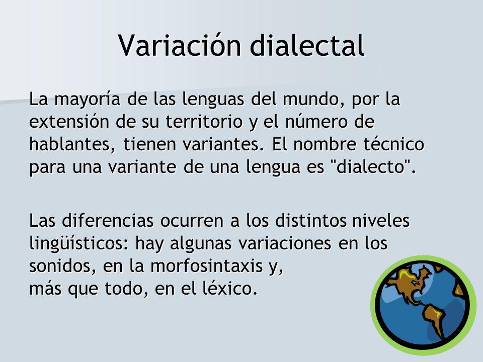 Variación dialectal