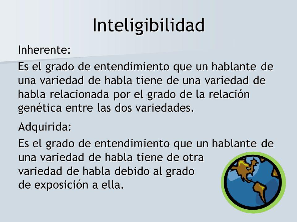 Inteligibilidad Inherente: