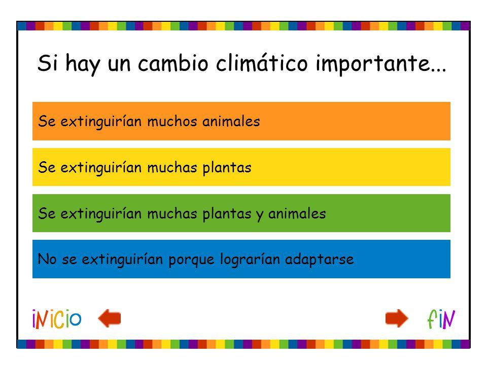 Si hay un cambio climático importante...
