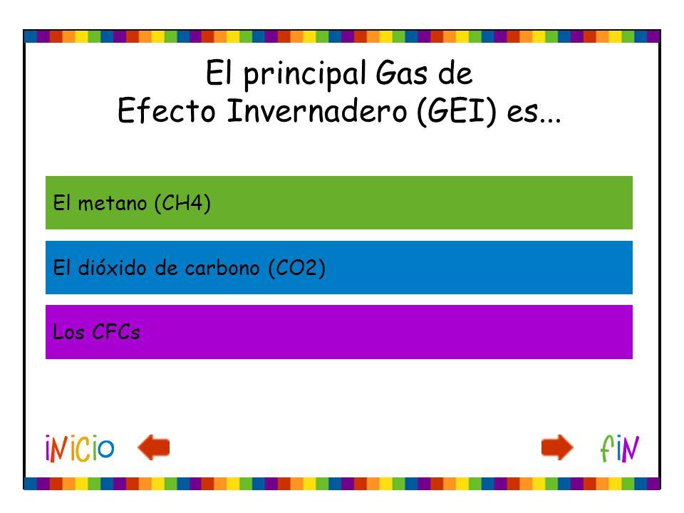 El principal Gas de Efecto Invernadero (GEI) es...