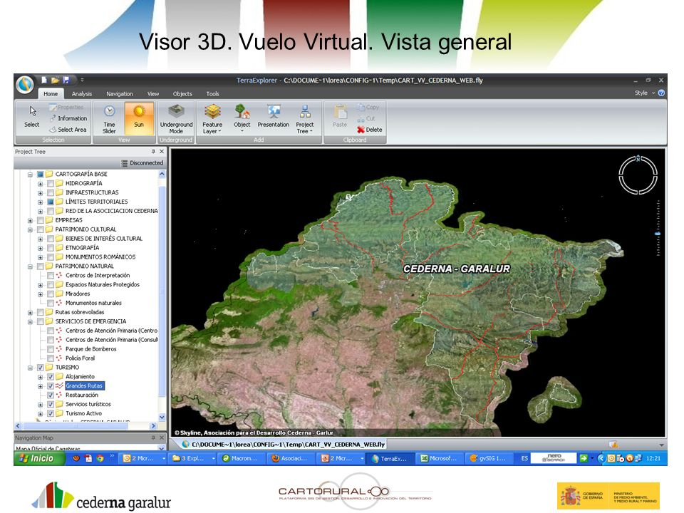 Visor 3D. Vuelo Virtual. Vista general