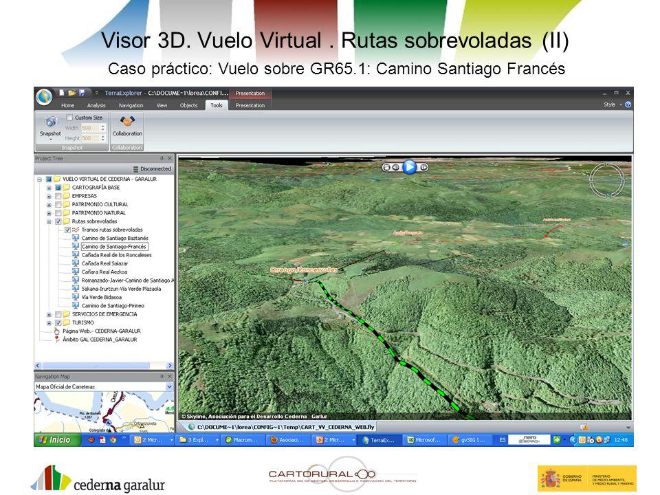 Visor 3D. Vuelo Virtual . Rutas sobrevoladas (II)
