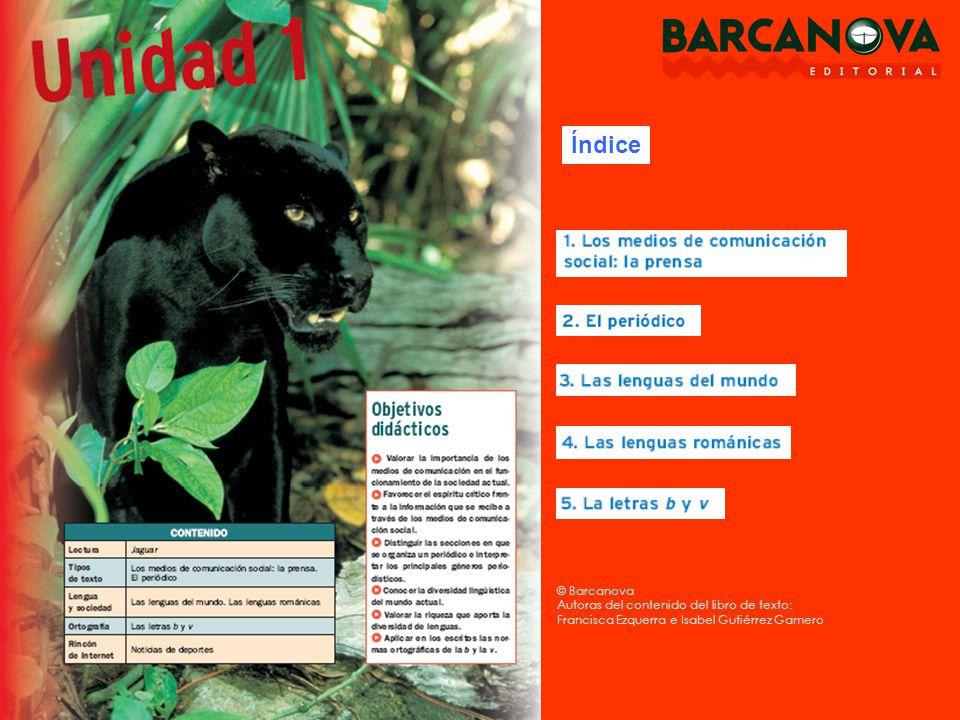 Índice © Barcanova Autoras del contenido del libro de texto: