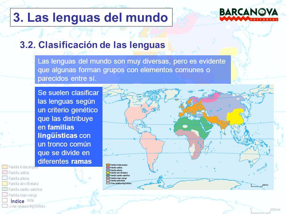 3. Las lenguas del mundo 3.2. Clasificación de las lenguas