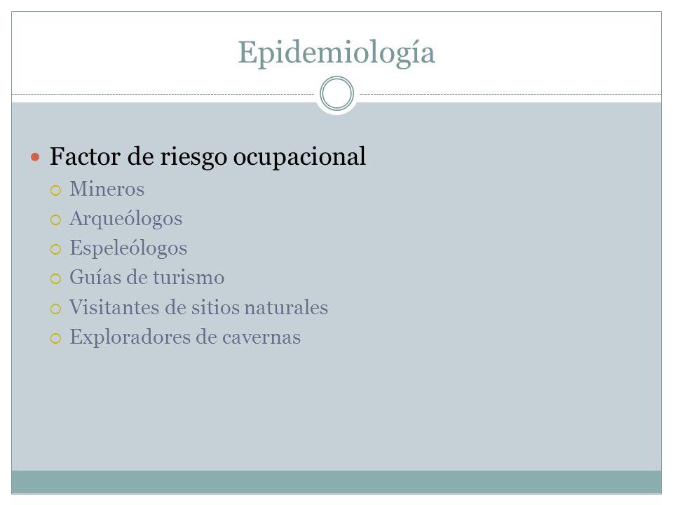 Epidemiología Factor de riesgo ocupacional Mineros Arqueólogos