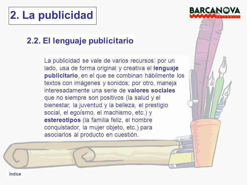 2. La publicidad 2.2. El lenguaje publicitario